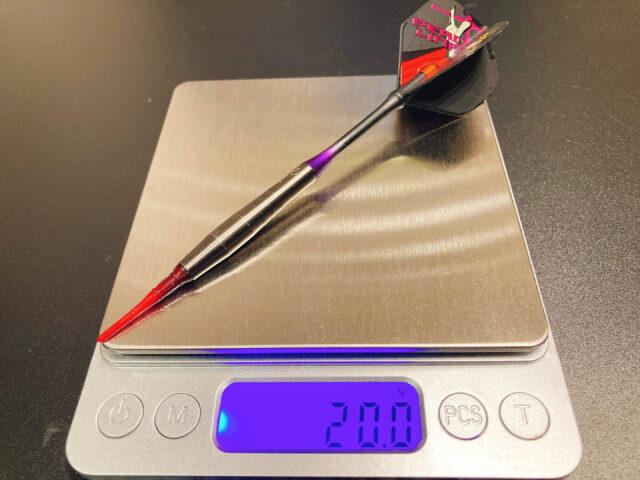 【ダーツバレル ペロリナ】の形状・カット・デザイン・重心・重さ・長さ・スペック